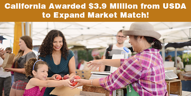 Congratulations to CDFA and CA Market Match!